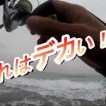 10月秋雨の遠州灘サーフ、粘りに粘ってマゴチゲットしたよ!